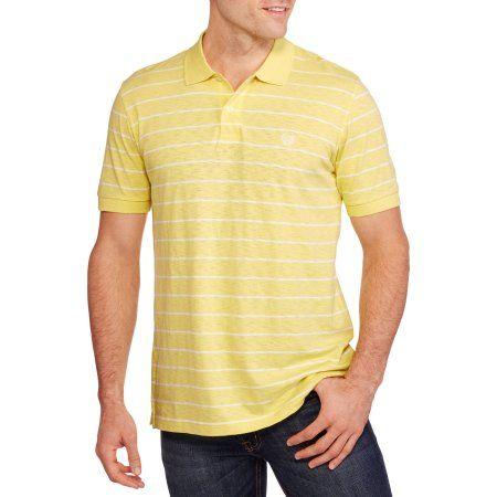 Chaps Men's Striped Polo, Size: Medium, Yellow