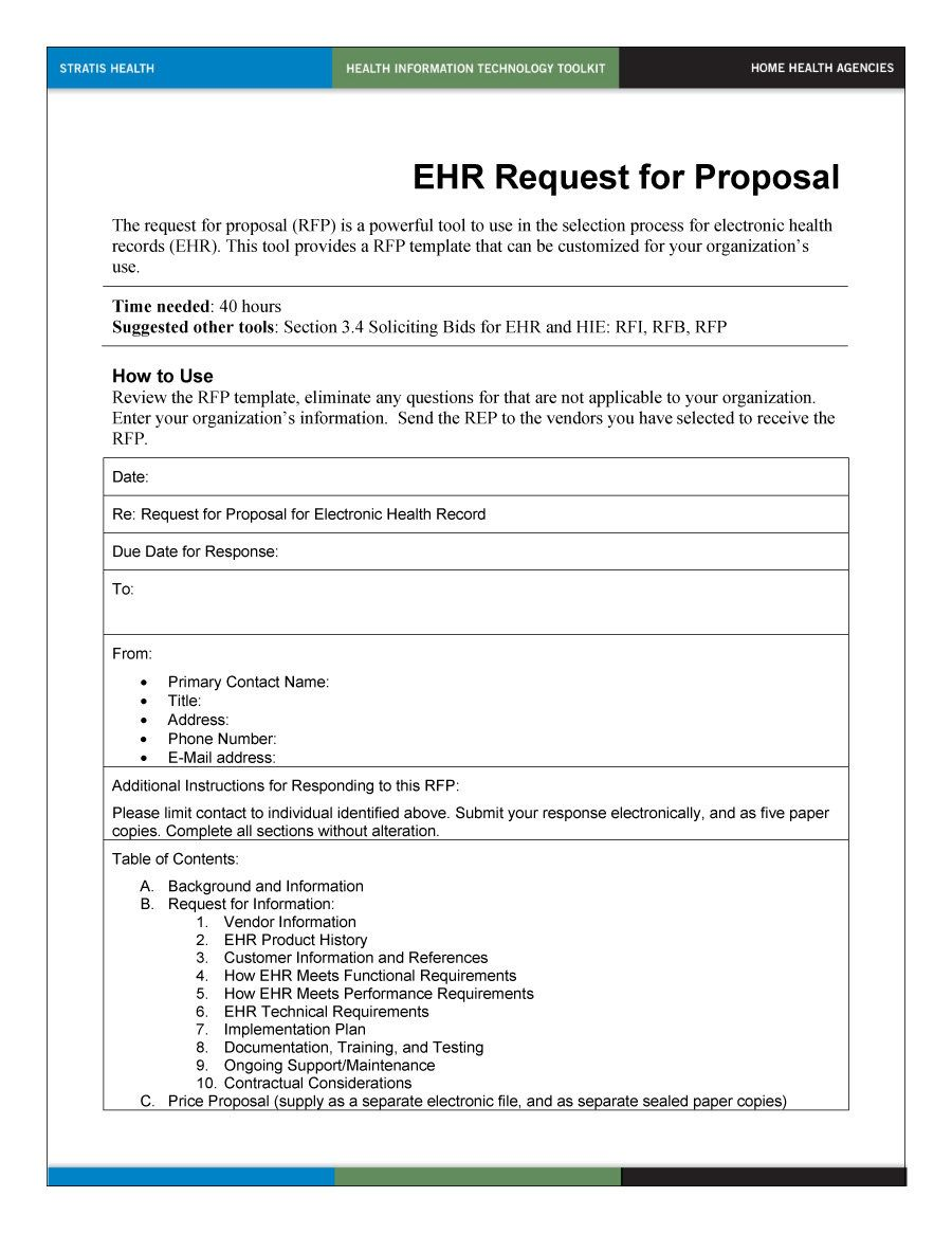 40 Best Request For Proposal Templates Examples Rpf Templates