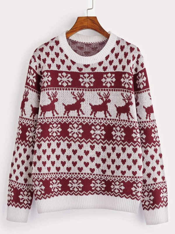 Pin On Sweaters Christmas Fairisle Patterned