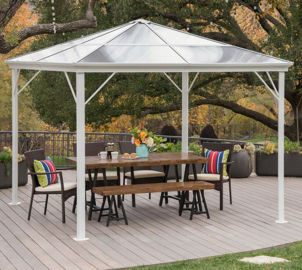 10 X 10 Meridian Gazebo Graphite Roof In 2020 Gazebo Structures Outdoor Structures