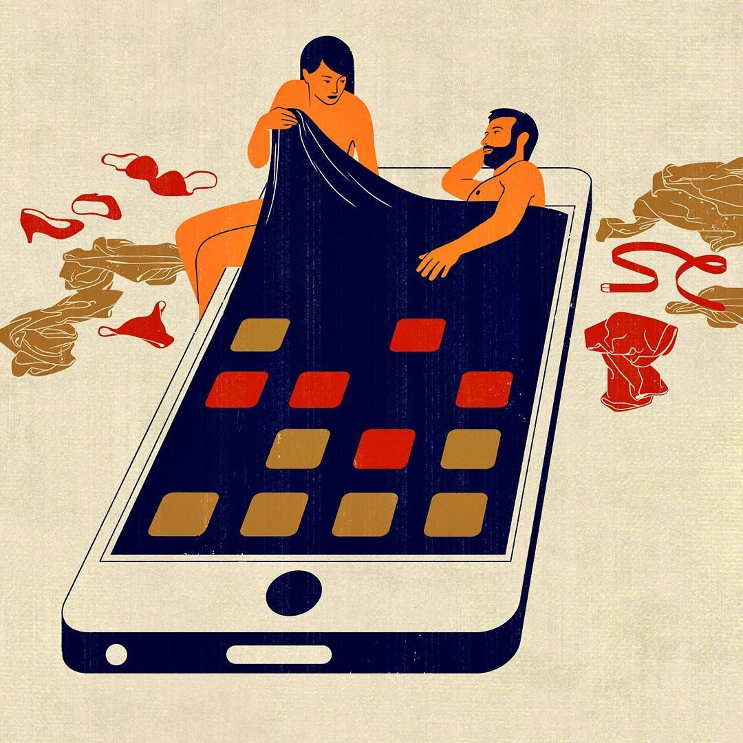 (inspiration)   joey guidone | bostonglobe, AD: Jane Martin #smartphone #illustration #italian #picame