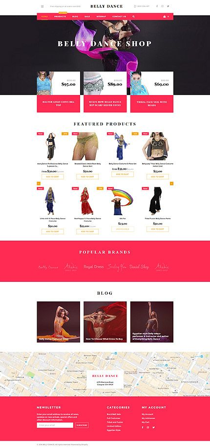 Belly Dance Clothing Online Store Shopify Template Themes - Shopify website templates