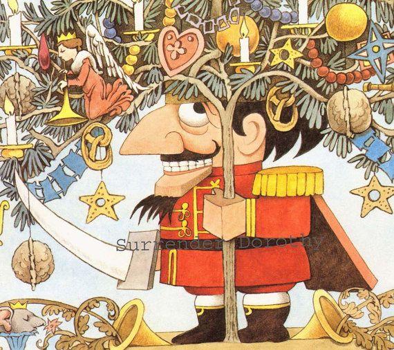 Nutcracker Ballet Christmas Celebration Maurice Sendak Original Children's Nursery Poster