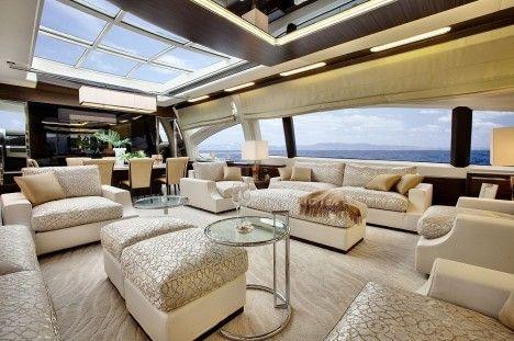 Luxusyachten innen  Azimut Grande 120SL Superyacht - Interior | Yachts | Pinterest ...