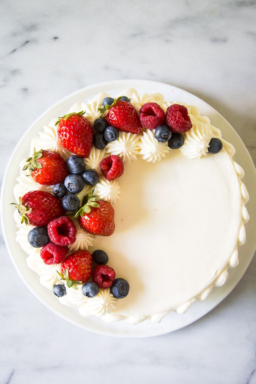 Berry Chantilly Cake Lark Linen Recipe Cake Decorated With Fruit Cake Toppings Berry Chantilly Cake