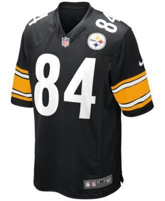 Nike Men s Pittsburgh Steelers Antonio Brown Game Jersey - Black 3XL ... 946eef3ad
