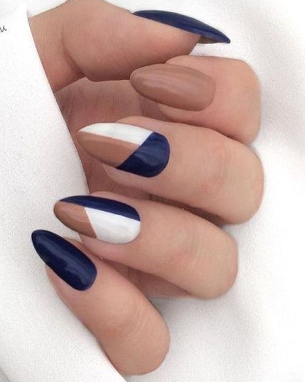 50 Pretty Ways To Wear Dark Blue Nails – 19 - picture for you