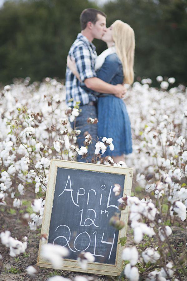 A Dreamy Cotton Field Engagement