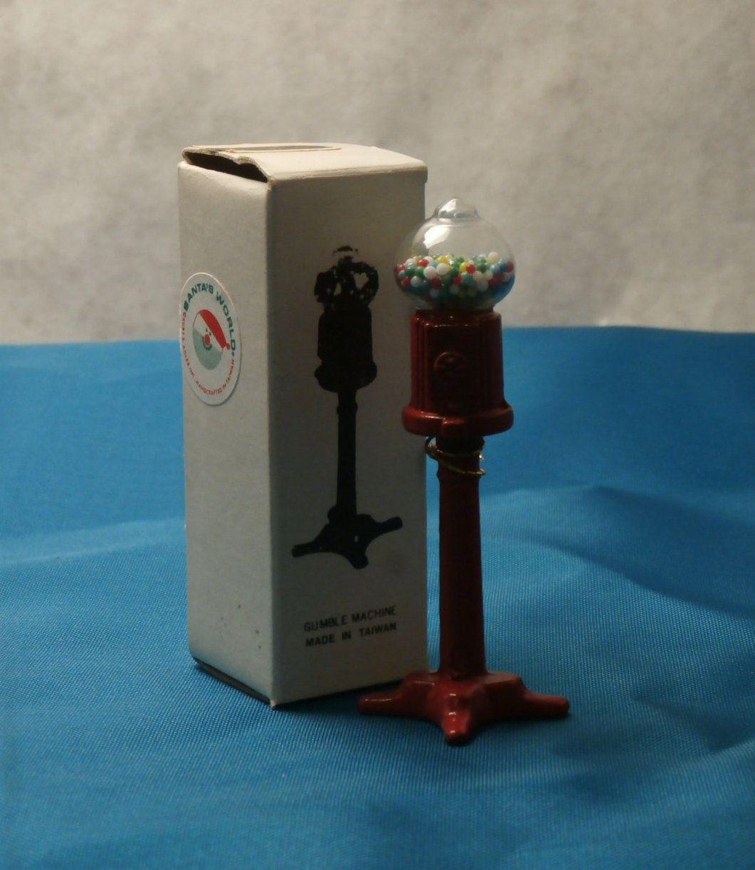 Miniature Gumball Machine, Tall Floor Style, 3 inch Kurt Adler ...
