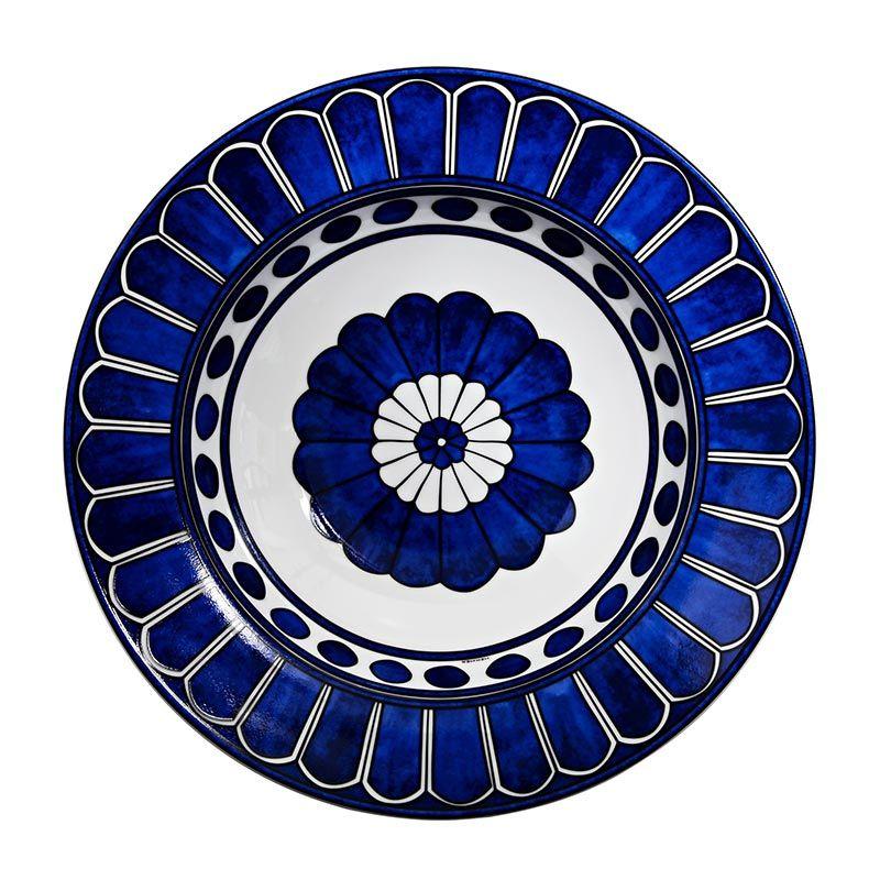 Hermes Bleus D Ailleurs Pasta Plate In Tabl Mavi Ciniler Mavi Sanat