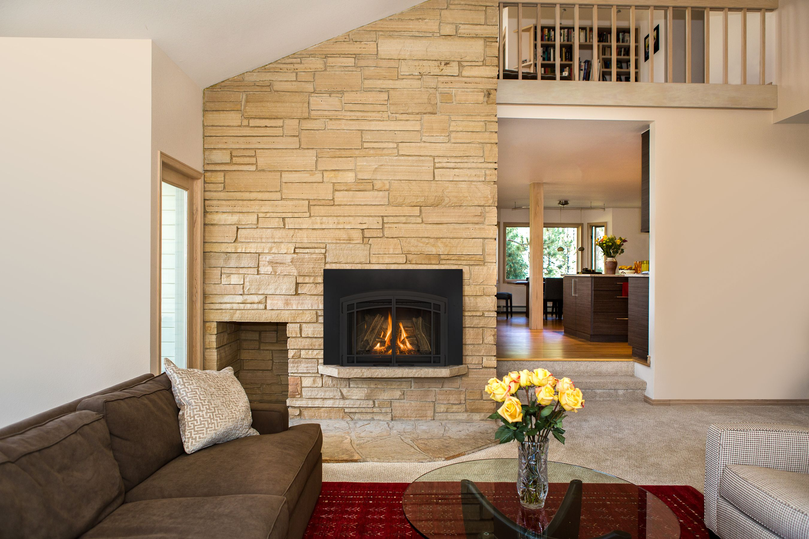 gas fireplace inserts like kozy heat u0027s jordan are low maintenance