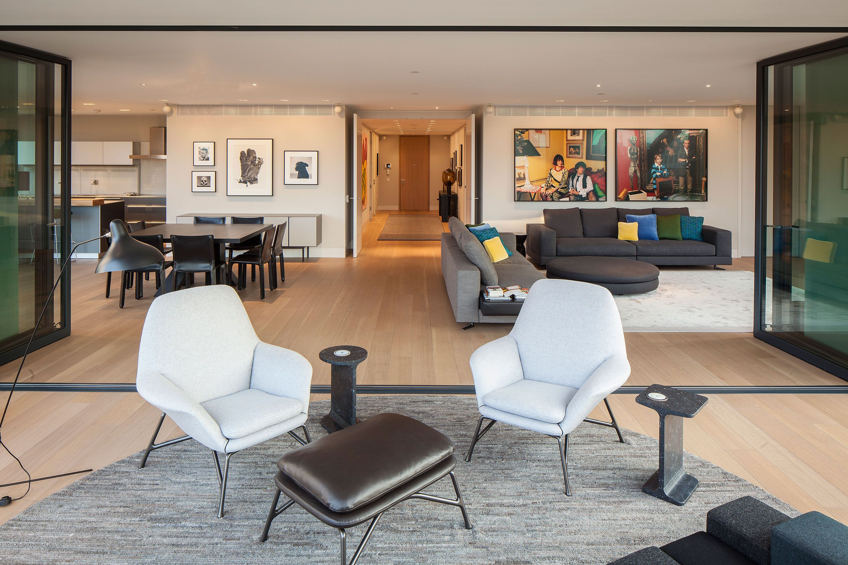 Apartment modern interior residential architecture design furniture london luxury detail coveburgess penthouse
