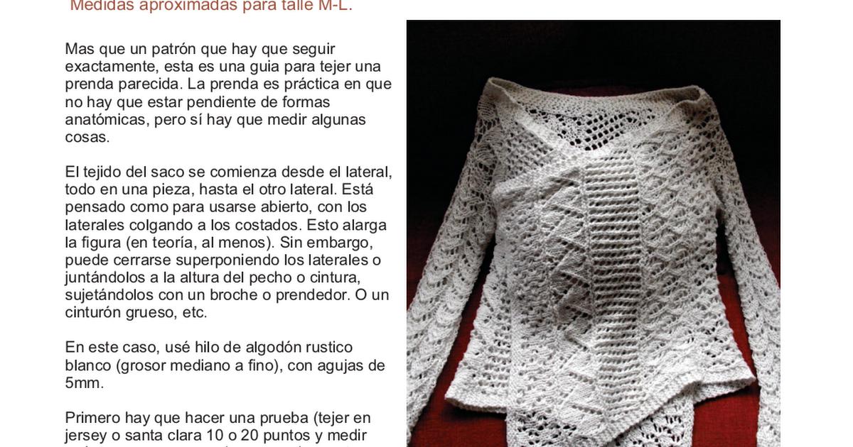 saco rectangulo calado- irkachan.pdf | ideas | Pinterest | Crochet ...