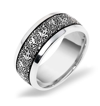 Dora Men S Venetian Lace Wedding Band