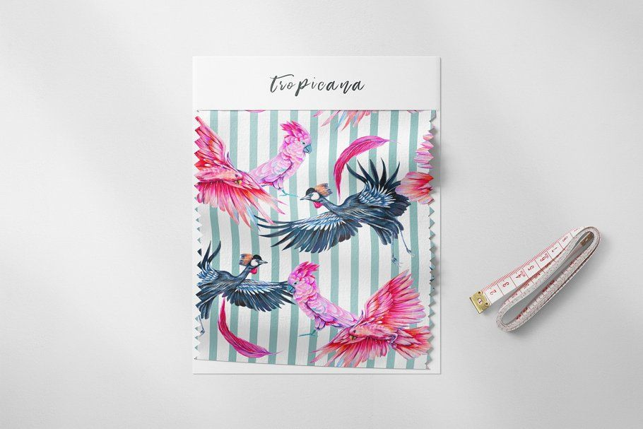 Ad: Tropical jungle patterns by Tropicana on @creativemarket. Jungle leaves, pink flamingo, parrot, hummingbird, crowned crane, butterfly tropical seamless floral pattern backgrounds. Decorative #creativemarket #junglepattern