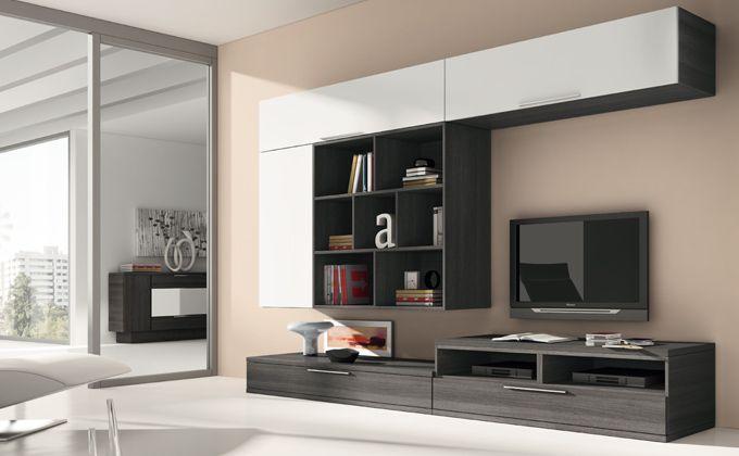 Conjunto muebles de comedor mueble moderno de sal n for Modulares de comedor