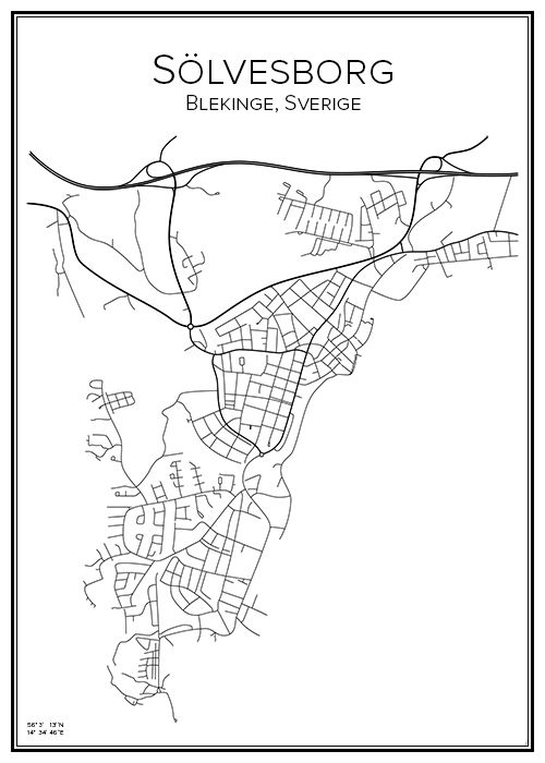 sølvesborg sverige kart Sölvesb  City maps, Drawing ideas and Drawings sølvesborg sverige kart