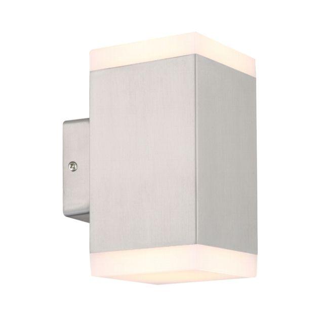 LED Wandstrahler, 2 Flammig, Außenleuchte, Außenlampe, Edelstahl, IP44, 230V