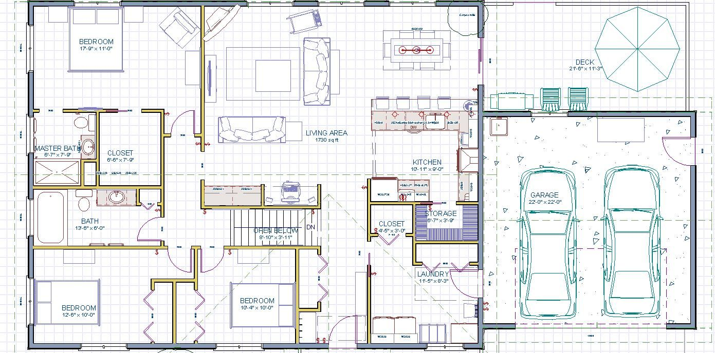 Rectangle house plans for Rectangular plot house plan