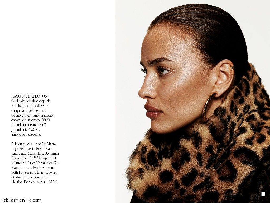Irina Shayk smoulders on the cover of Vogue Spain September 21 ...