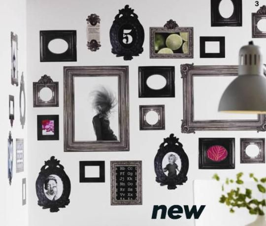 Hot or Not? New Frames Wall Decals | Walls, Photo clock and Frame ...
