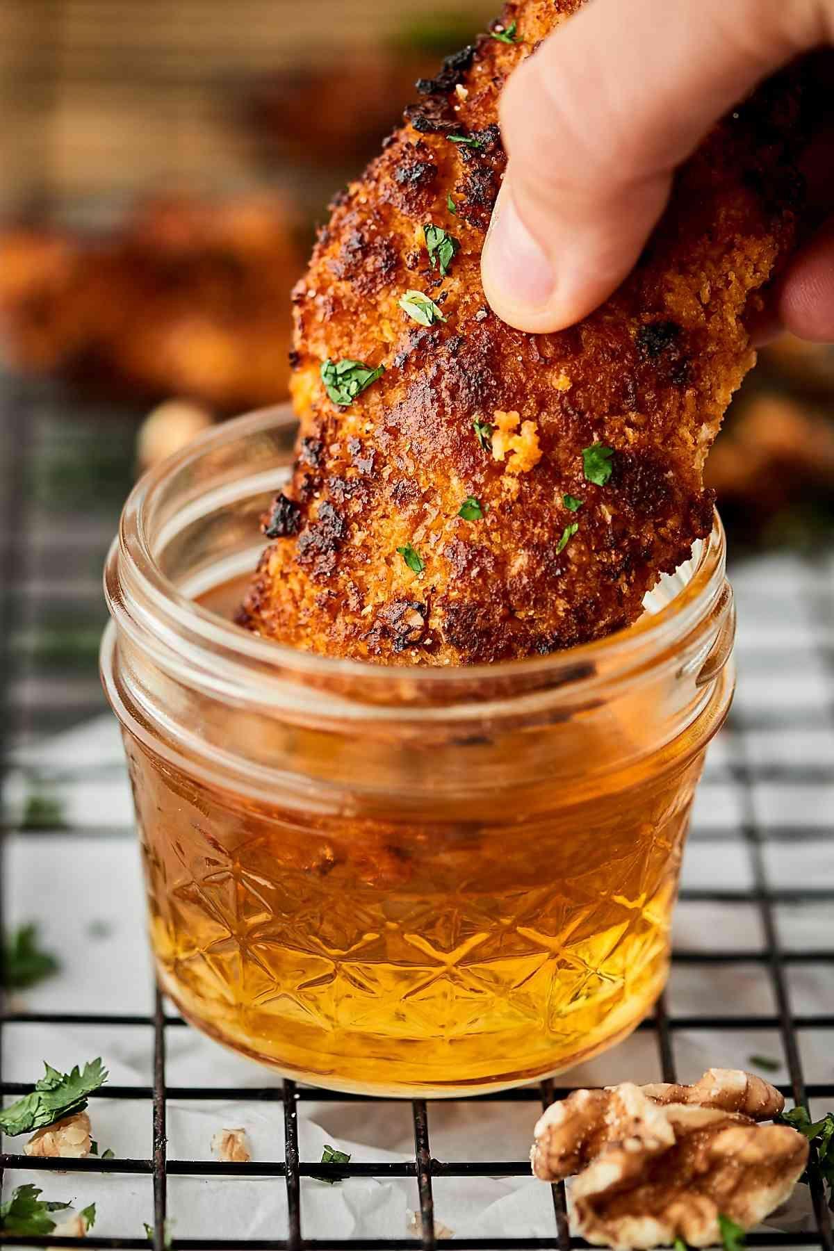 Air fryer sweet and spicy walnut chicken tenders recipe