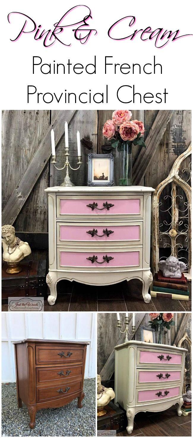 Transform Your Vintage French Provincial Furniture Into A Little S Dream With Pink And Cream Hand Painted Distressed For Yet Shabby Chic