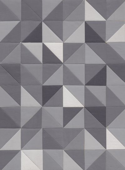 Grey Triangles Triangle Tiles Fish Painting Patterned Floor Tiles