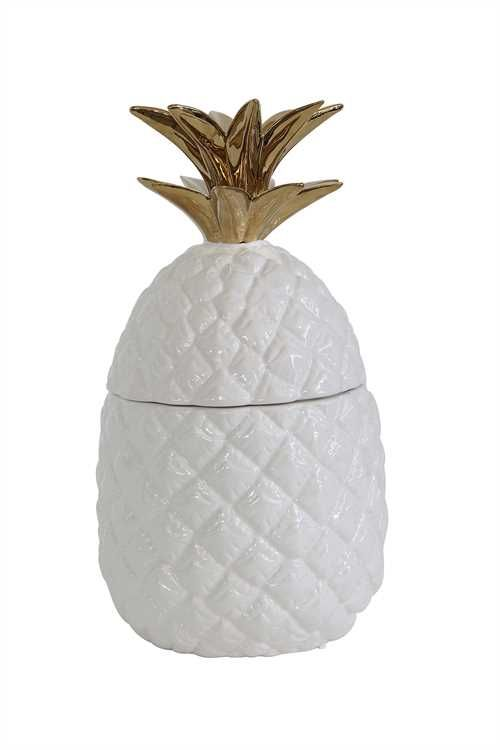 5 Inch Round X 9.25 High Ceramic Pineapple Shaped Jar. Because Even The  Simple