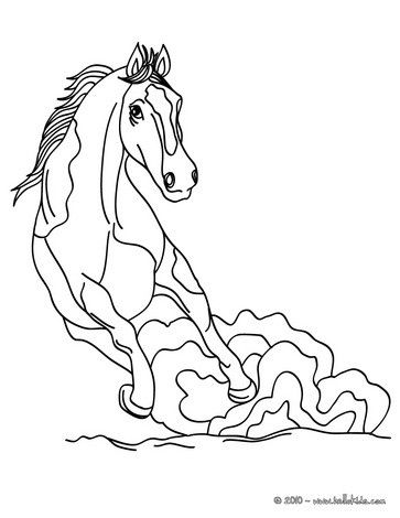 Wild Horse Coloring Page Cute And Amazing Farm Animals For Kids More Sheets On Hellokids