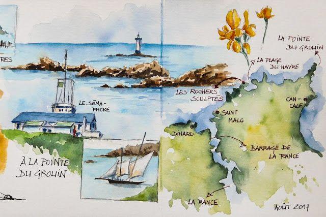 Bb Les Arts Idees Sketchbook Voyage Aquarelle