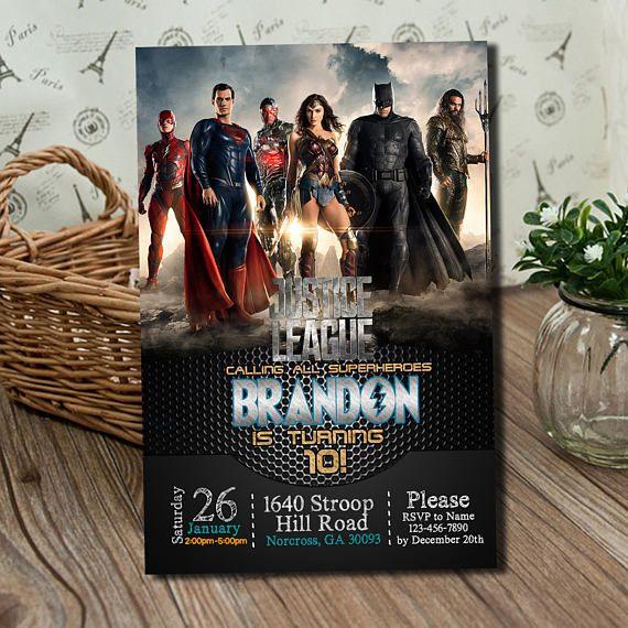 Justice League Birthday Invitation Printable Invitations Decorations