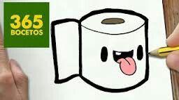 365bocetos Kawaii Toilet Paper Dibujos Kawaii 365 Dibujos