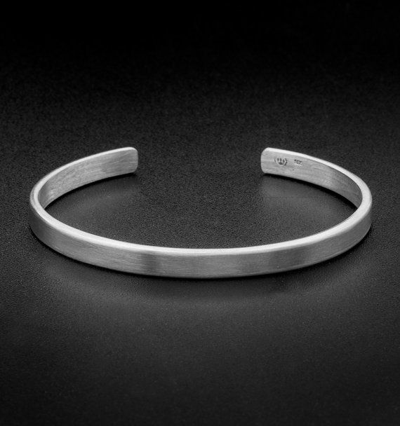 Sterling Silver Cuff Bracelet 5mm Solid By Mrsmithjewelry