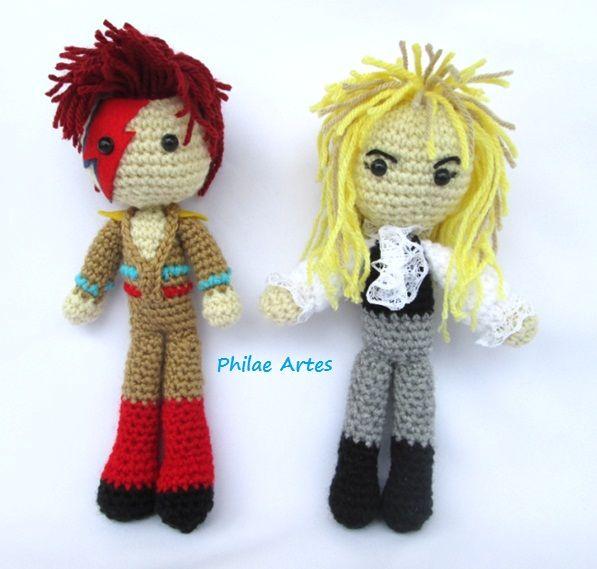 Amigurumi - Crochet doll - Croche - David Bowie - Jareth - Labyrith ...