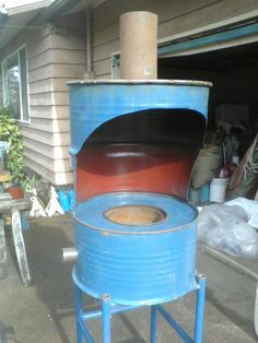 Brake Drum Deluxe Forge In Pretty Blue Metal Working Diy Forge Forging Metal
