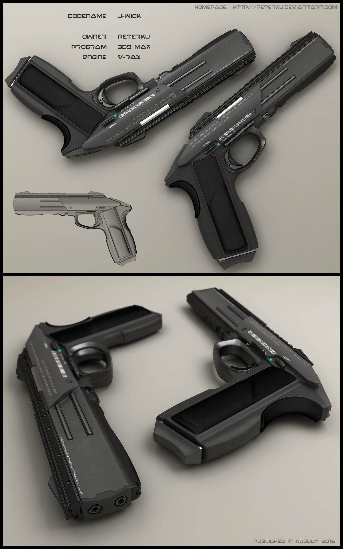 jwick by peterku pistol gun weapon plasma energy bullet