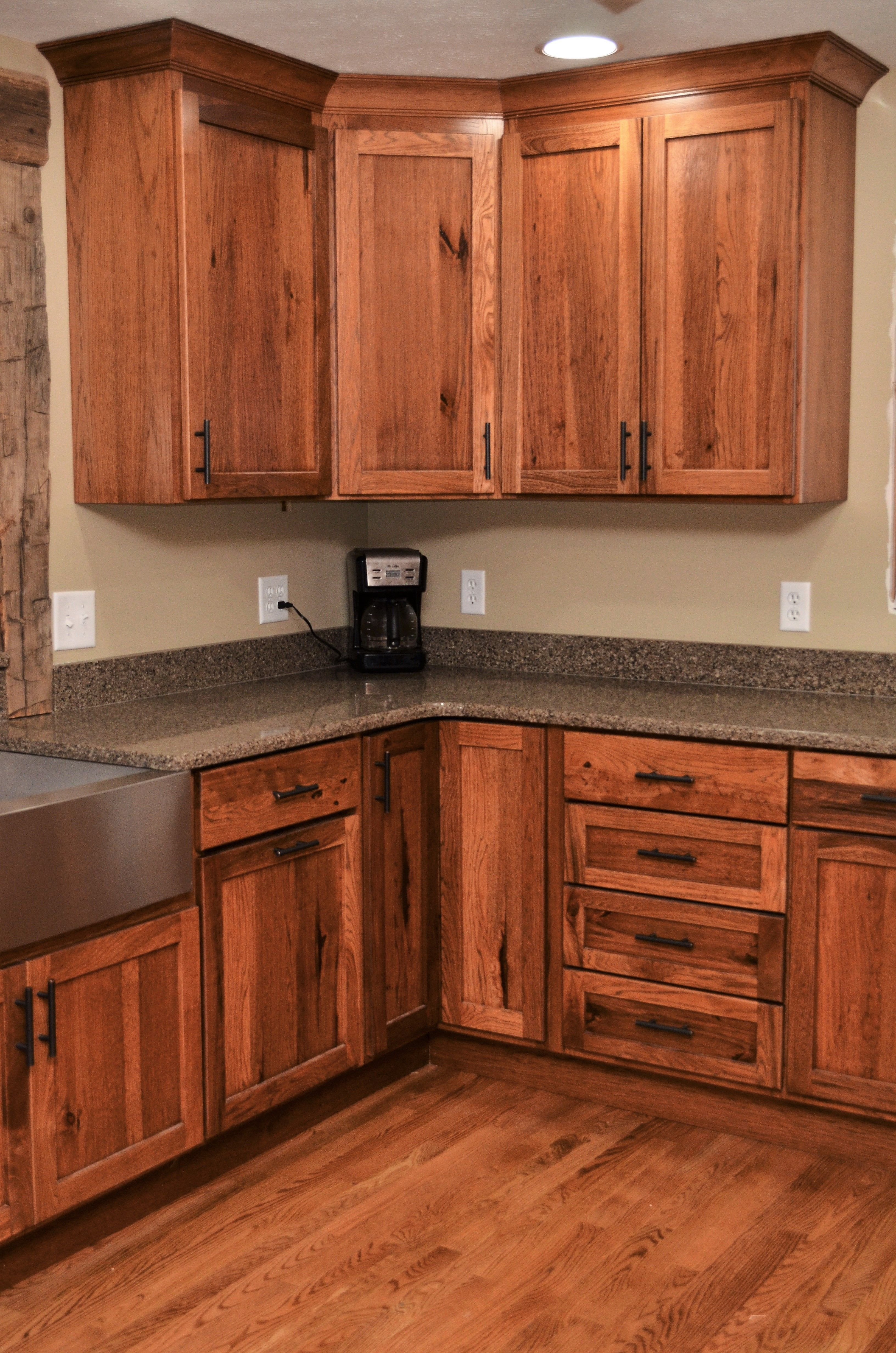 Haas Door Style Shakertown Rustic Hickory Pecan Small Cottage Kitchen Kitchen Design Kitchen Design Small