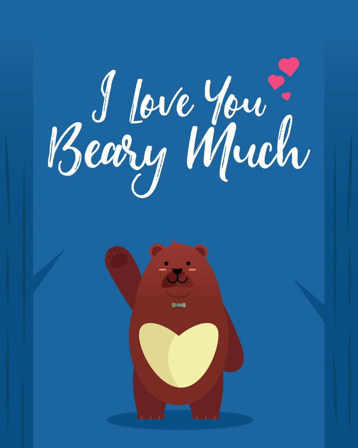 I love you beary much downloadable greeting cards products i love you beary much downloadable greeting cards m4hsunfo
