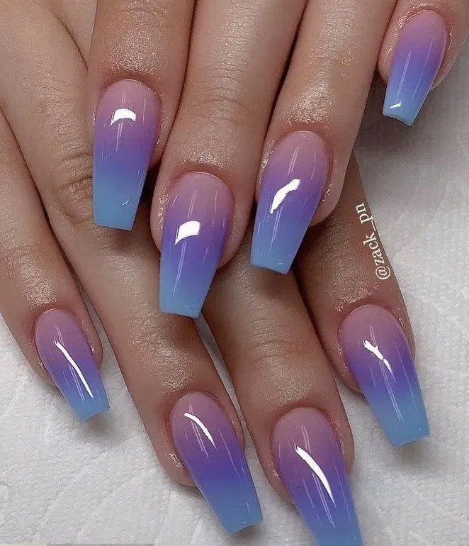 40 top awesome coffin nails design 2019 you must try 8 | Bloghenni.online #ombrenails