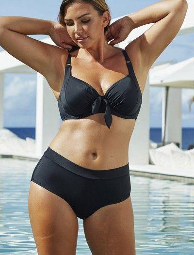 6bedeefb15adb Anne Cole Plus Size Swimwear - Plus Size Swimwear Swim Sexy Black Out  Underwire High Waist Bikini plus size swimwear