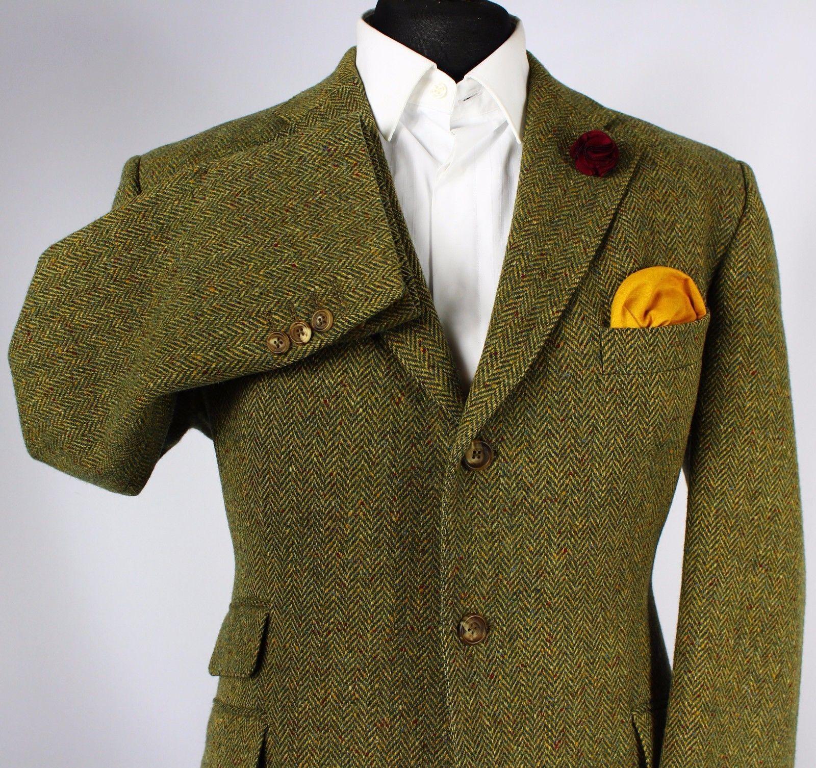 Magee Donegal Tweed Blazer Jacket Green Country Races 44s Stunning 196 Ebay Tweed Blazer Green Jacket Tweed Run