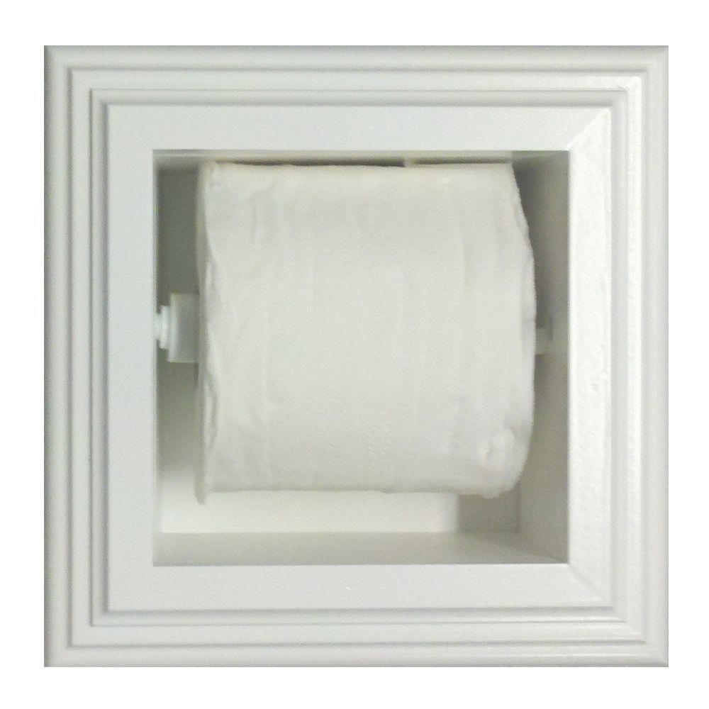 Features Recesses Into Wall Or Cabinet Uses Single And Double Size Rolls Only No With Images Recessed Toilet Paper Holder Bathroom Toilet Paper Holders Toilet Paper