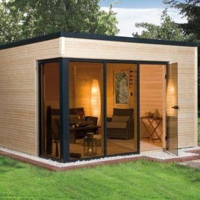 Abri de jardin en bois CUBILIS DESIGN taille 1 et 2 - WEKA   Maison ...