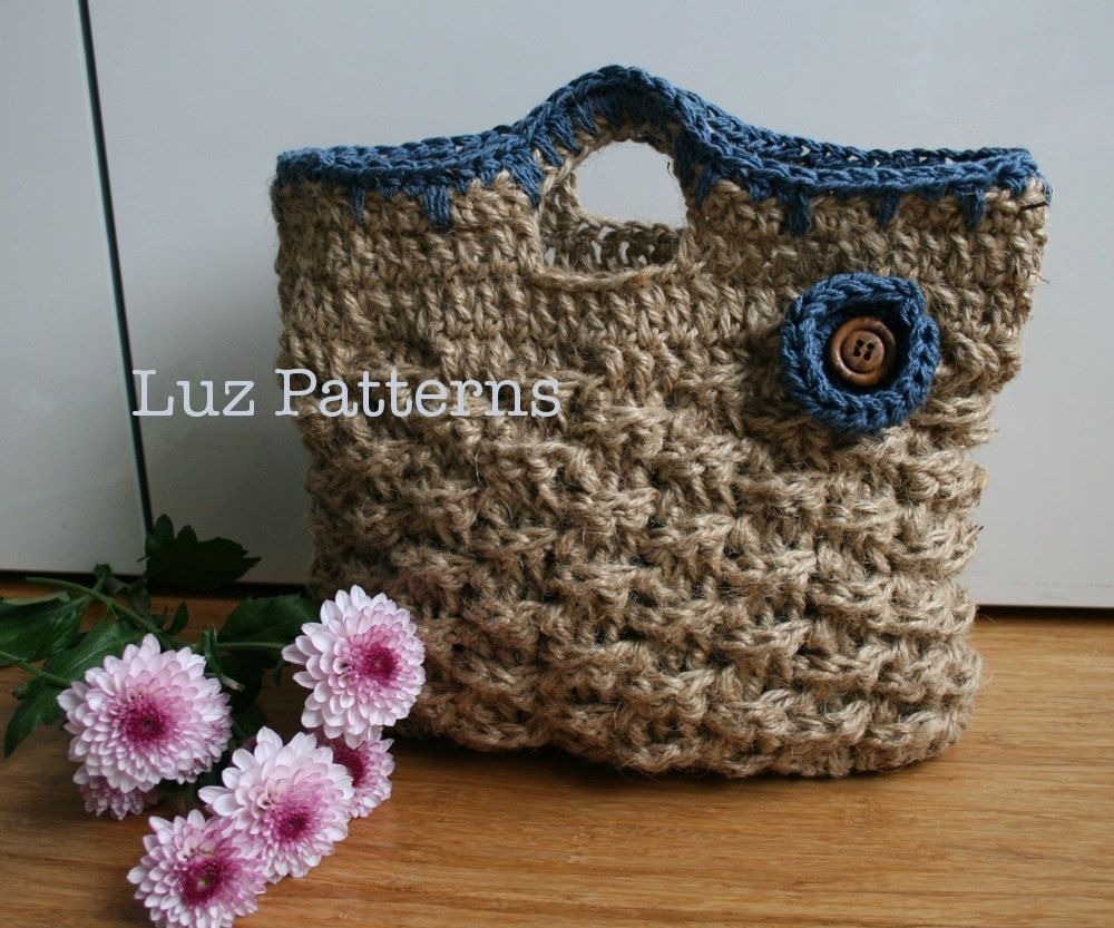 Retro Jute Summer handbag pattern ~ via Etsy. | CrochetHolic ...