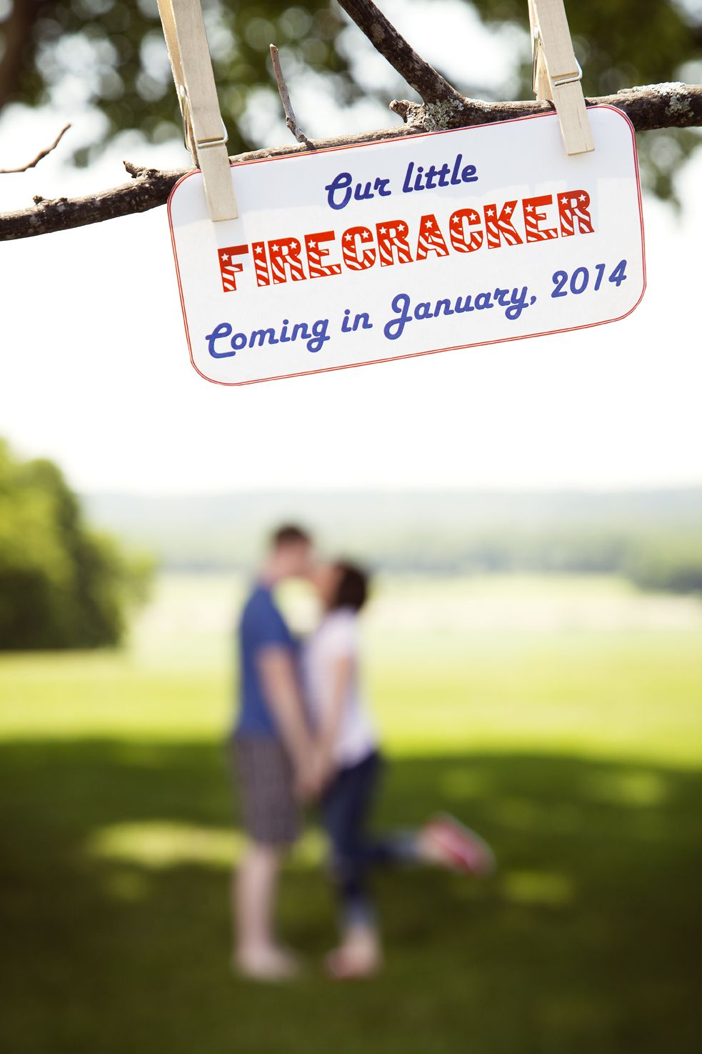Our 4th of July pregnancy announcement – Pinterest Baby Announcement