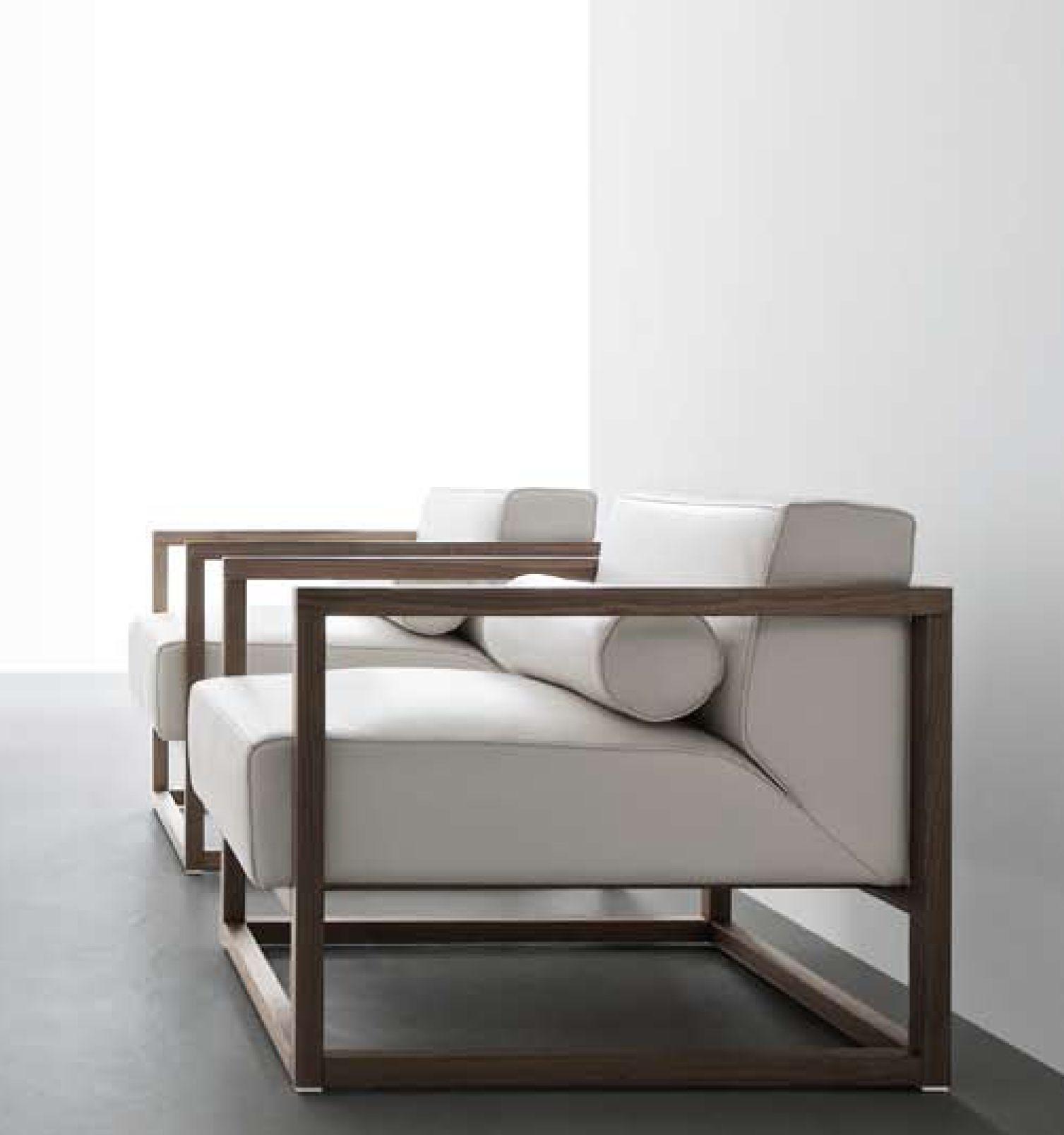 Verdesign Ariosto Armchair Walnut Fabric Or Leather By