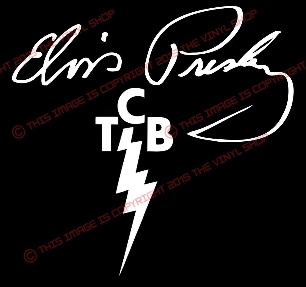 Decal TCB Elvis Presley Sticker