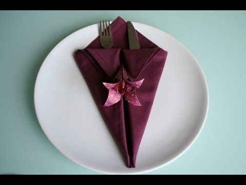 servietten falten spitze bestecktasche napkin folding. Black Bedroom Furniture Sets. Home Design Ideas