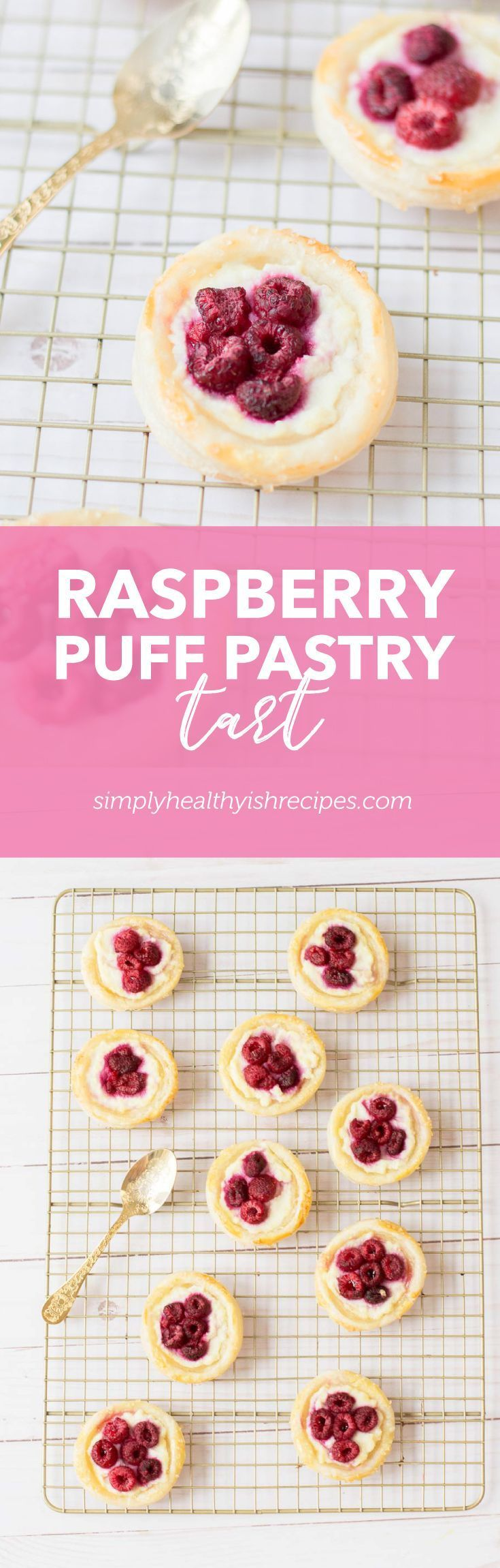 Puff pastry danish or raspberry danish pastry. Whatever you call this, this easy tart is sure to impress the guests on any occasions — crispy, buttery, flaky puff pastry tart makes an easy summer dessert. #frozenpuffpastry